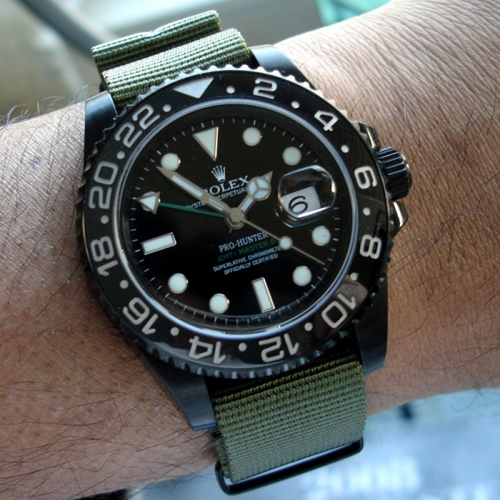 Canvas Strap Rolex Fitted With a Canvas Strap